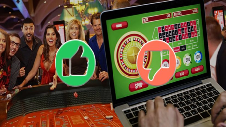 The Pros and Cons of Online Gambling VS. Gambling in Person
